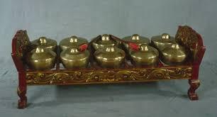 Bonang merupakan instrumen pendukung penting pada gamelan jawa. 12 Contoh Alat Musik Melodis Gambar Beserta Cara Memainkannya