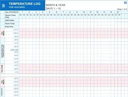 Refrigerator Temperature Chart Sample Room Temperature Chart Template Www Bedowntowndaytona Com
