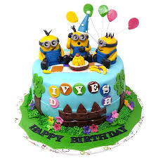 Buy Cake Square Designer Cakes Minions Theme Birthday Spl Black