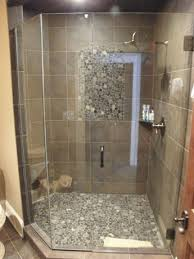 frameless 2 3 neo angle shower enclosure 3 8 inch clear glass brushed nickel hardware installed in waukesha