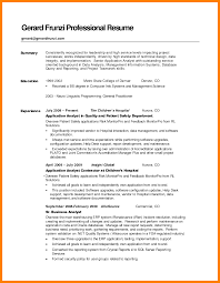 6 Sample Resumes Summary Sap Appeal