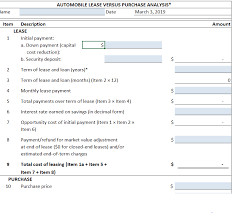 Leasing Versus Buying New Car Solved 2 Lease Vs Purchase Car Decision Use Worksheet
