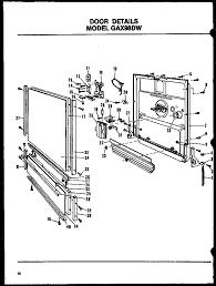 Amana glenwood a series dishwasher repair parts list parts model gax97dwmn01 sears partsdirect