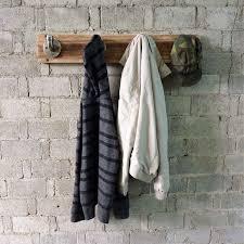 san antonio industrial wall mounted entryway hat coat rack 4 hooks metal with reclaimed wood finish 119 87