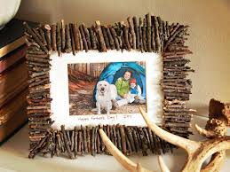 Homemade Rustic Picture Frames Help Kids Make A Rustic Frame For Dad Hgtv