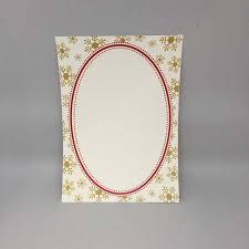 Gold Snowflake Border Holiday Flat Card Invitation 5 X 7 10 Pack