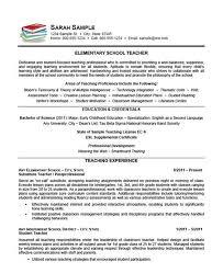 Elementary School Teacher Resume Example Teaching Resume Resume
