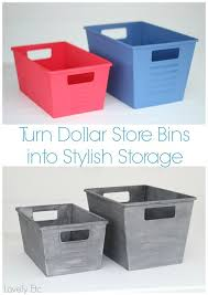 awesome tutorial on how to paint inexpensive dollar bins to look like vintage metal locker