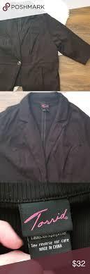 Torrid Button Blazer Jacket Black Casual 4x Torrid Size 4