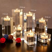 dining table candle holder. aliexpress.com : buy 3pcs/set dining table solid crystal candlestick transparent candle holder christmas wedding candlelight ornaments from reliable f