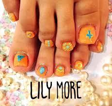 ターコイズオレンジネイルlily More所属lilymoreのネイルデザイン