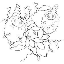Pokemon Paradijs Kleurplaat Burmy Trash Plant En Sandy Cloak