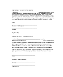 Sample Photographer Release Forms 6 Examples In Word Pdf