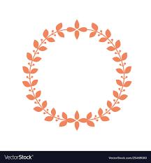 Circle Border Round Laurel Frame Circle Wreath Border With Leaf