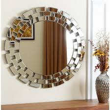 Small Picture Round Wood Framed Silver Mirrored Wall Mirror Home Decor Mirror