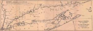 Details About Antique 1895 Nautical Chart Long Island Sound Ct Ny