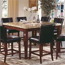 counter height marble top dining set dumound steve silver company montibello table decorating ideas 2