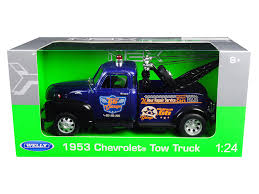 1953 Chevrolet Tow Truck Blue 1/24 Diecast Model Car by Welly ...