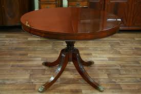 44 round dining table with leaf round mahogany dining