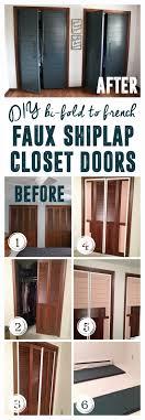 modern french closet doors. DIY Faux Shiplap French Closet Doors Modern