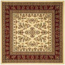 lyndhurst ivory red 8 ft x 8 ft square area rug