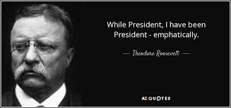 Theodore Roosevelt quote While President I have been President Impressive Teddy Roosevelt Quote