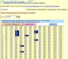 Soie D Alger Colour Chart Thread Conversion Anchor Dmc Soie Dalger Needlenthread Com