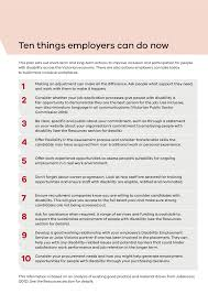 Help With Job Application Disability Employment 10 Things Employers Can Do Now Vpsc