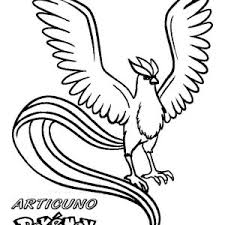 Small Picture Coloring Page Pokemon Pages Articuno mosatt