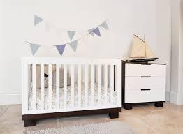 babyletto modo modo  in  convertible crib set in greywhite