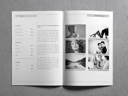 resume booklet minimal resume booklet cover letter by env1ro on dribbble