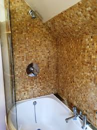tumbled marble mosaic bathroom kidlington after