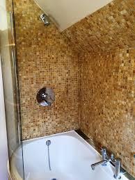tumbled marble mosaic bathroom kidlington after