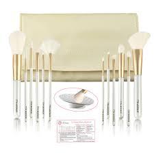 makeup brush set 12 pcs profesional brushes synthetic hair kabuki foundation blending blush eyeliner face powder makeup brush kit with organizer portable