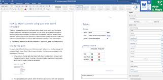 Document Template Word Word Template Exporter For Confluence Atlassian Marketplace