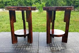 diy pallet round end tables