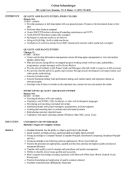 Quality Control Job Description Resume Quality Assurance Intern Resume Samples Velvet Jobs 7