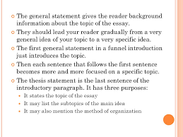 eng writing chapter from paragraph to essay ppt video the general statement gives the reader background information about the topic of the essay