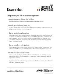 Resume Objective Examples For Any Job Outathyme Com