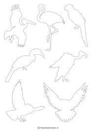 Sagome Di Uccelli Da Colorare E Ritagliare Per Bambini Con Immagini