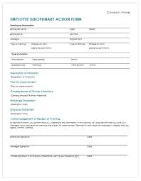 Disaplinary Forms Employee Notice Of Discipline Template Forms Pdf Beadesigner Co