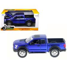 2017 Ford F-150 Raptor Pickup Truck Blue 1/24 Diecast Model Car By ...