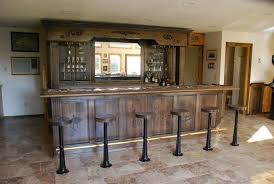 Hand Made Vintage Bar And Backbar by Daniel Cabinets