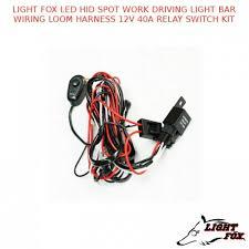light fox led hid spot work driving light bar wiring loom harness light fox led hid spot work driving light bar wiring loom harness