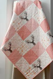 145 best Quilts images on Pinterest | Nurseries, Quilt baby and ... & Baby Quilts Handmade, Baby Girl Quilt, Woodland Nursery, Homemade Quilts,  Blush Baby Adamdwight.com