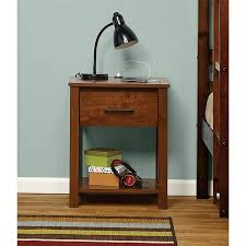 nightstand with usb. Brilliant Usb Mainstays Ethan Night Stand With USB Port Multiple Colors Intended Nightstand With Usb D