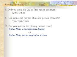 building the freshman essay ppt video online  revising the essay 27 8 did you avoid the use of first person pronouns i