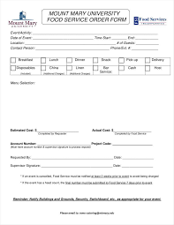 10 Catering Order Form Templates Ms Word Numbers Pages