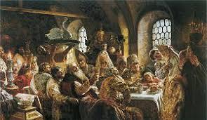 Русские свадебные обряды Википедия  Свадебный пир в боярской семье xvii столетия Маковский К Е 1883