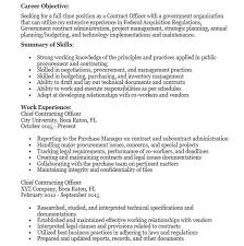 19 Free Government Contractor Resume Samples Sample Resumes